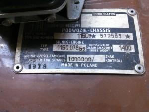 tabliczka milionowy samochod fso 125p