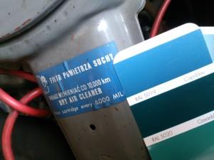 naklejka filtra fiat 125p
